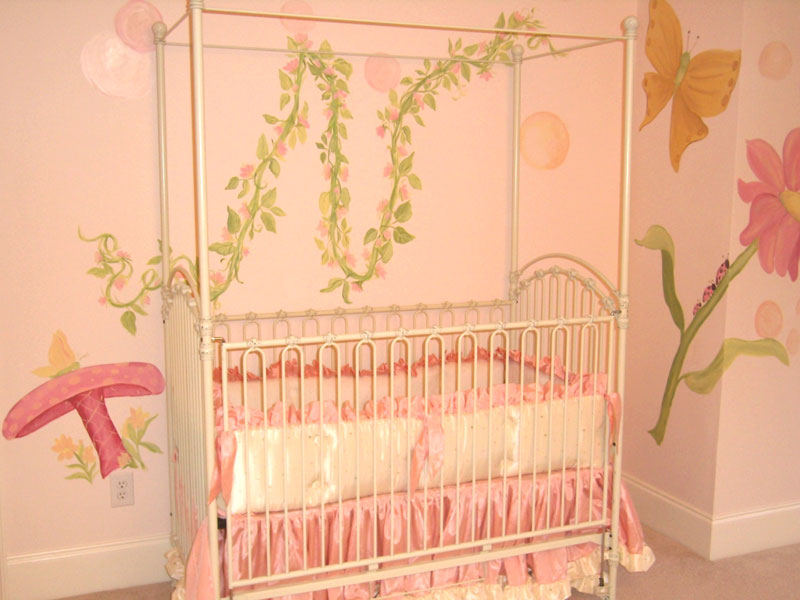 Nursery Murals | Fairies and Bubbles