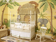 Nursery Murals | Jungle Animals