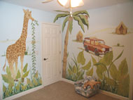 Nursery Murals | Jungle Nursery
