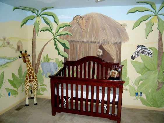 Nursery Murals | Tigers Watch
