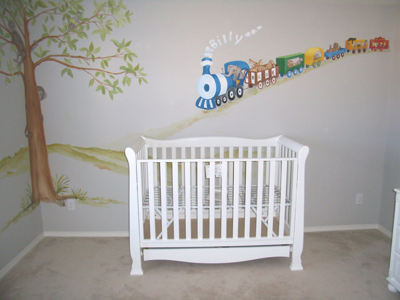 Nursery Murals | Train Themes